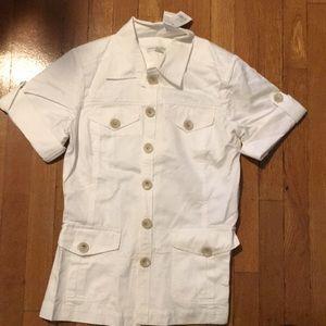 Short sleeve safari jacket